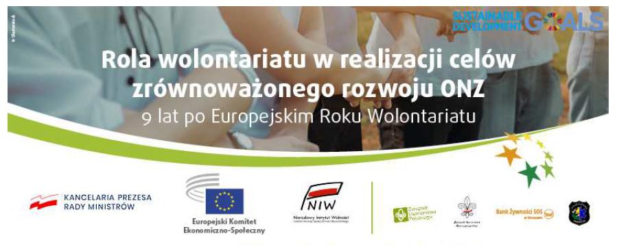 Konferencja: Rola wolontariatu w realizacji celów zrównoważonego rozwoju ONZ