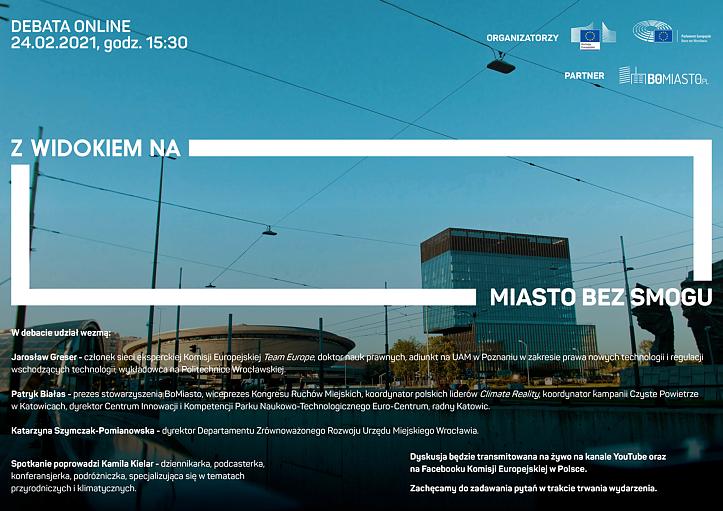 """Debata online """"Z widokiem na miasto bez smogu"""""""