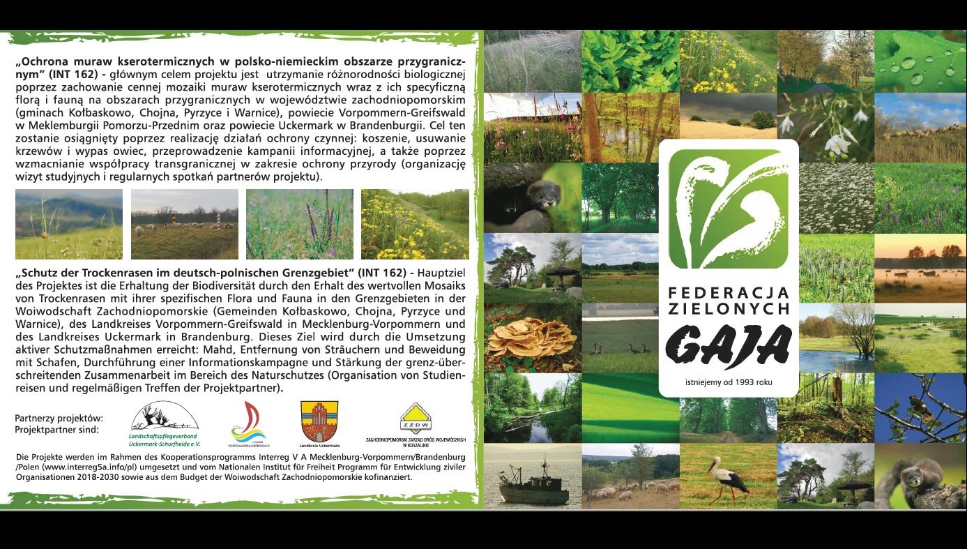 """Promocja Federacji Zielonych """"GAJA"""" w ramach projektu INT162"""
