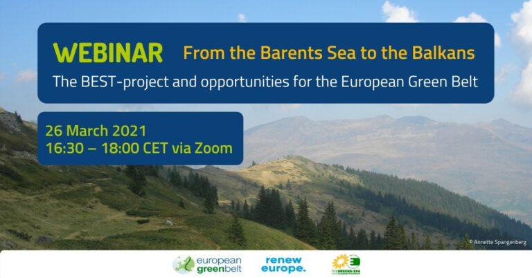 """Relacja z marcowego webinarium """"Europejski zielony pas - od Morza Barentsa po Bałkany"""""""