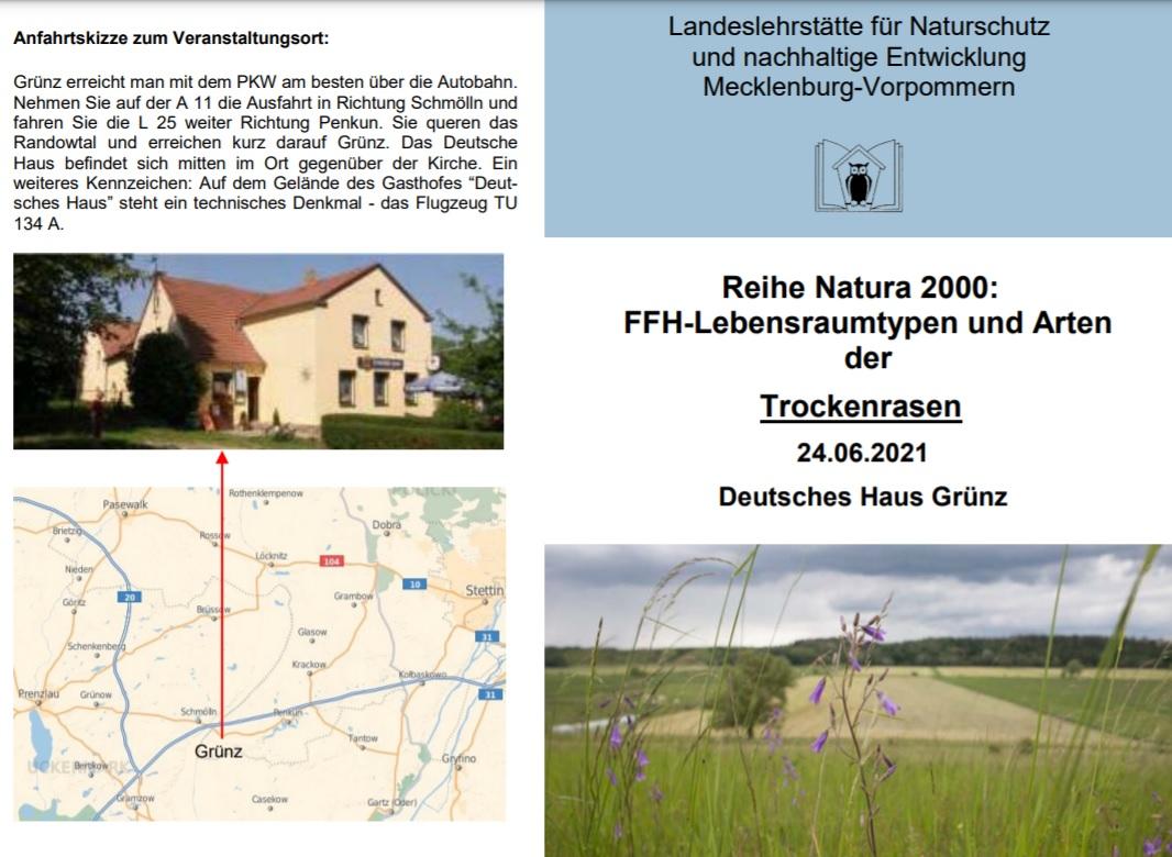 Promocja projektu INT162 podczas seminarium i warsztatów organizowanych przez Państwowe Centrum Edukacyjne Ochrony Przyrody i Zrównoważonego Rozwoju Meklemburgii-Pomorza Przedniego