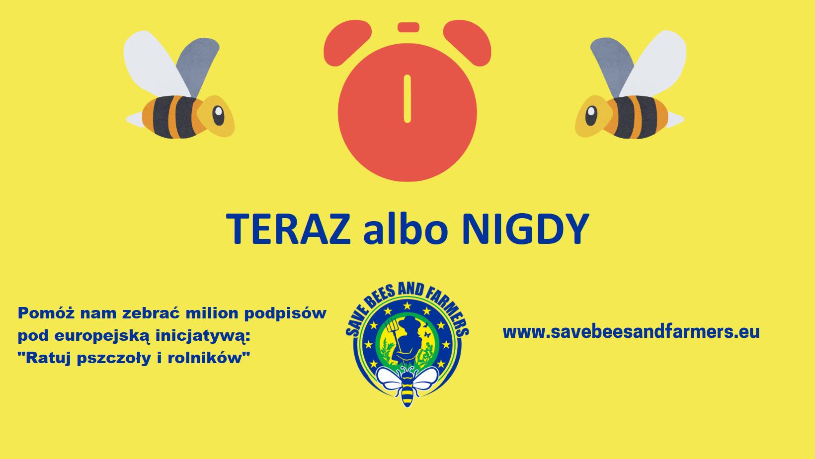 """""""Ratuj pszczoły i rolników"""" - przyłącz się do ogólnoeuropejskiej kampanii i pomóż nam zebrać milion podpisów pod petycją skierowaną do Komisji Europejskiej"""