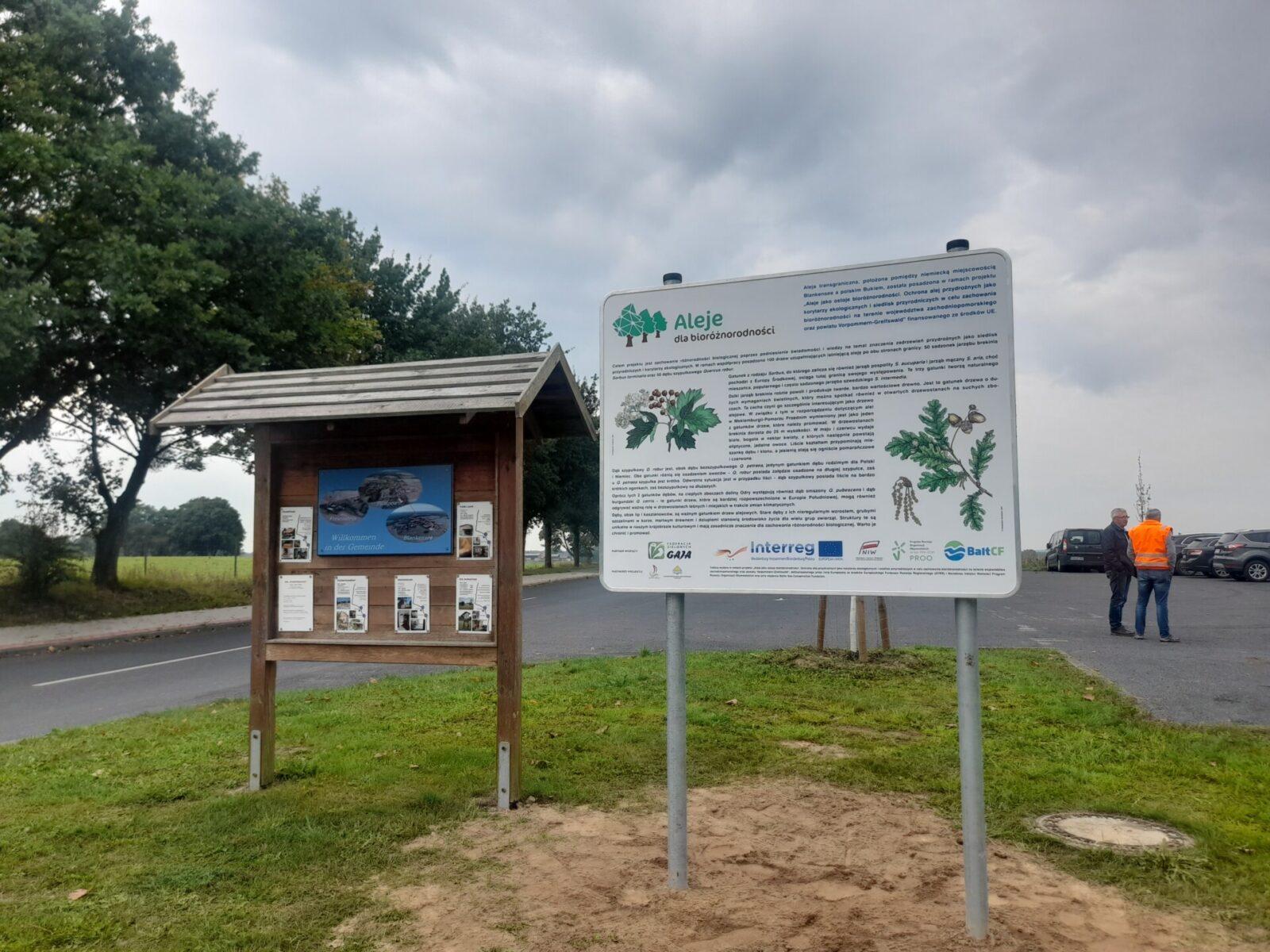 Uroczyste otwarcie alei transgranicznej na przejściu Buk/Blankensee w ramach projektuAleje jako ostoje bioróżnorodności